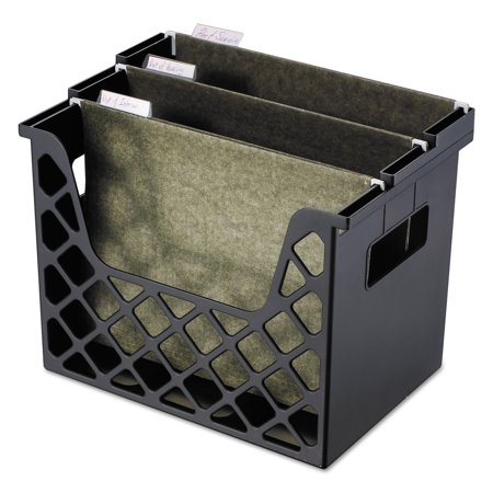 - Universal Recycled Desktop File Holder, Plastic, 13 1/4 X 8 1/2 X 9 5/8, Black -UNV08123