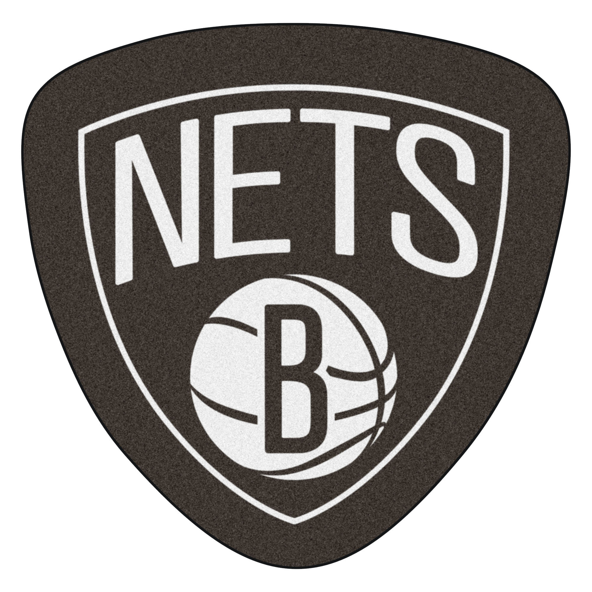 NBA Brooklyn Nets Mascot Novelty Logo Shaped Area Rug