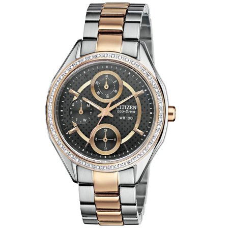 (Citizen FD1066-59H Women's POV 2.0 Drive Collection Swarovski Crystal Eco-Drive Two Tone Bracelet Watch)