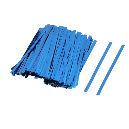 Gift DIY Craft Candy Biscuit Bag Lollipop Packing Sealing Twist Ties Blue 300pcs - Halloween Biscuits