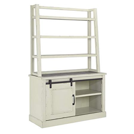 Ashley Furniture Design - H642 Jonileene Home Office Cabinet and Tall Desk Hutch - White/Gray
