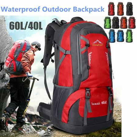 Nylon Sport Pack Bag (40L/60L Nylon Backpack Waterproof Athletic Sport Hiking Travel Rucksack)