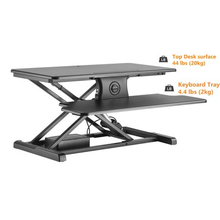 PrimeCables Electric Height Adjustable Standing Desk, Power Motor Button Touch Sit to Stand Desk Riser Fits Single/Dual Monitor - image 6 of 7