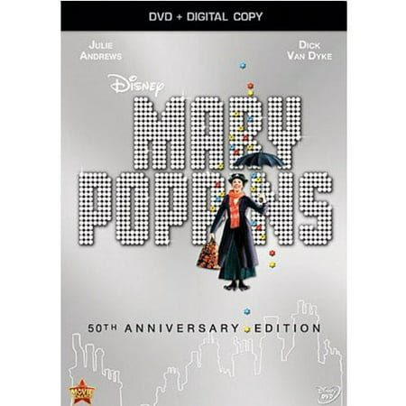 Mary Poppins (50th Anniversary Edition) (DVD + Digital (Dovetail A-drawer Dvd)