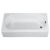 American Standard New Solar 60 in x 30 in Right Drain Soaking Tub in White