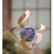 Wind & Weather Hanging Glowing Spiral Wind Spinner for Gardens