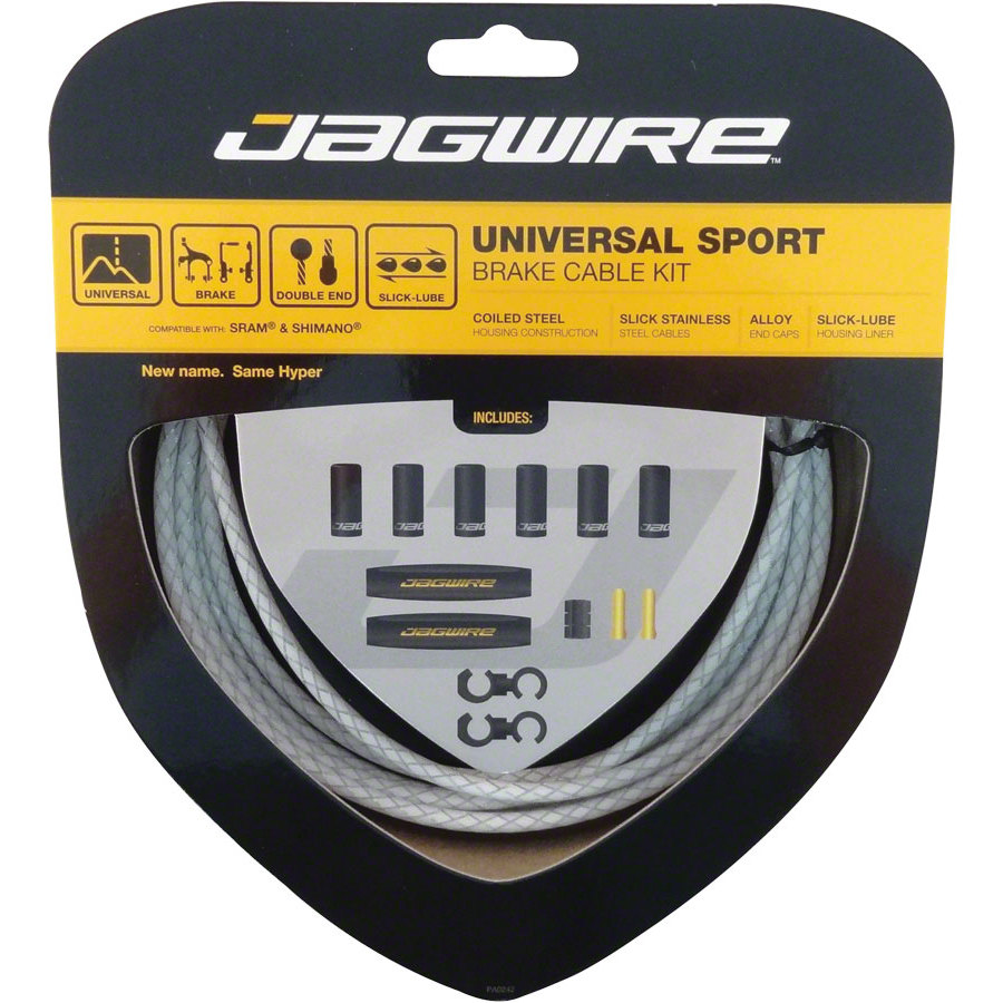 Jagwire Hyper Brake Kit Braided White
