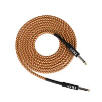 Electric Guitar Bass Cable Musical Instrument Audio Cable 1/4 Inch to 1/4 Inch TS Straight Plugs, 3 Meters/ 10 Feet