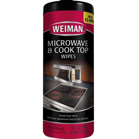 Microwave & Cook Top Wipes - 4 packs of 30 wipes, Remove - Quickly and conveniently wipe away splattered food, grease, oily residue & watermarks By Weiman