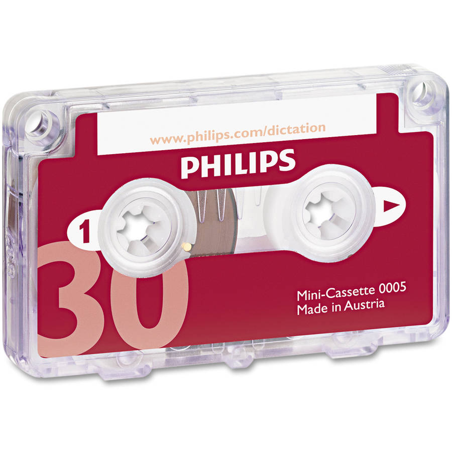 Philips Audio and Dictation Mini Cassette, 30 Minutes (15 x 2), 10/Pack