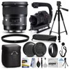 Sigma 24mm F1.4 DG HSM Art Lens for Nikon (401306) + 60  Tripod + Action Stabilizer Handle + Ultra Violet Filter + Cleaning Kit + Lens Brush + Cap Keeper The Sigma 24mm 1.4 DG HSM Art is a state of the art wide-angle prime lens designed for Full Frame cameras but will work with APS-C sensors as well. Using over 50 years of lens making experience, particularly the knowledge gained from the 35mm 1.4 Art and the 50mm 1.4 Art, the 24mm 1.4 Art is aimed at being the new standard for fast aperture wide angle prime lenses. The latest optical design allows for the utmost in image quality with careful attention paid to edge to edge performance. An optimized power layout places the aspherical lens elements in the rear and adjusts the incidence angle of light source allowing for great performance wide open. What's in The Box:- Sigma 24mm f/1.4 DG HSM Art Lens- Front Lens Cap- Rear Lens Cap- Lens Hood- Carrying Case- Ultra Violet UV Filter- Opteka X-GRIP Action Stabilizing Handle- 60-Inch Pro Series Full Size Tripod- Deluxe Lens Cleaning Kit- Air Cleaner Dust Blower- Lens Cleaning Pen- Lens Cap Keeper- 47th Street Photo Microfiber Cloth- 4 Year USA Warranty