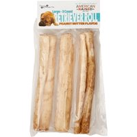 "Pure & Simple Pet 8"" Large Retriever Roll Dog Chews, Peanut Butter, 3 Count"