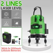 360° Rotary Green Light 2 Line Laser Level High Precision Automatic Measure Tool