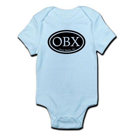 CafePress - OBX Outer Banks, NC Oval Infant Bodysuit - Baby Light Bodysuit