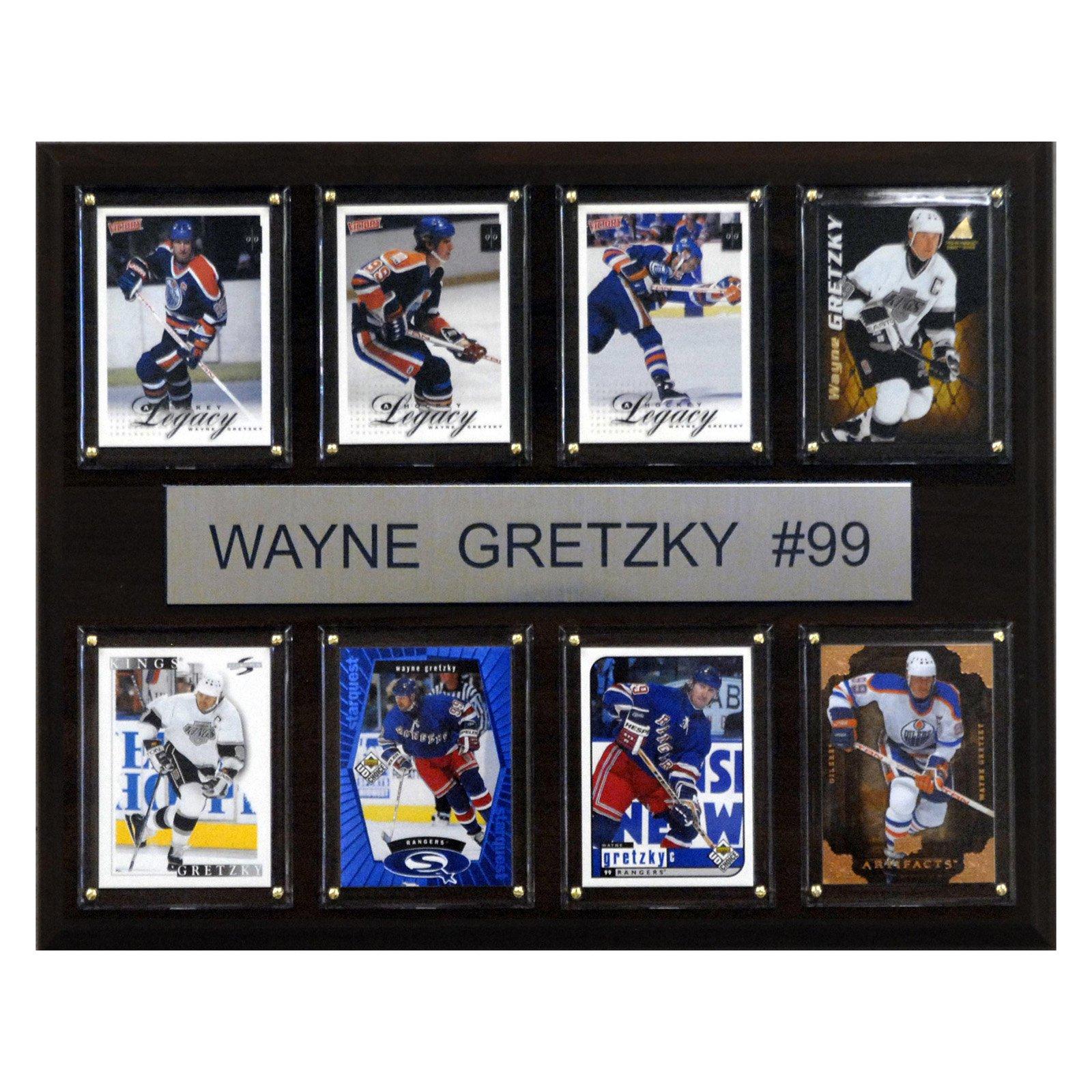 C&I Collectables NHL 12x15 Wayne Gretzky Edmonton Oilers 8-Card Plaque