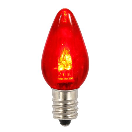 Vickerman C7 Transparent LED Red Twinkle Replacement Bulb