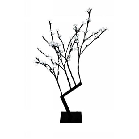 Winterland CH-96PW-30B 30 in. Tall Pure White Cherry Tree With 96 LED Light ()