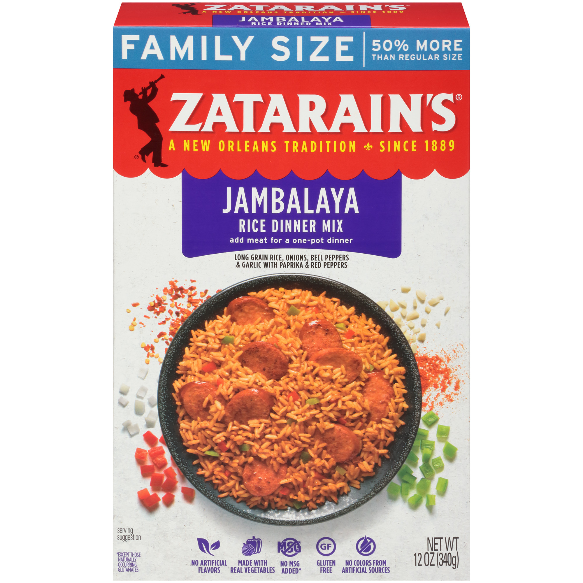 Zatarain's Jambalaya Rice Dinner Mix, 12 oz