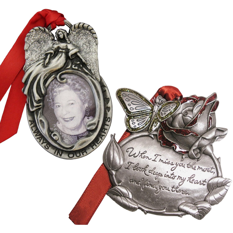 Personalized Gloria Duchin Memorial Christmas Ornament 2-Piece Set