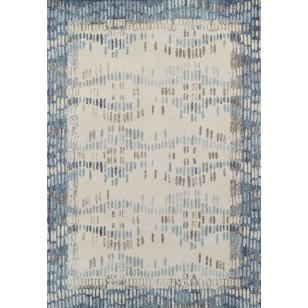 Dalyn Gala Area Rugs - GA9 Contemporary Navy Stripes Faded Waves Lines Rug