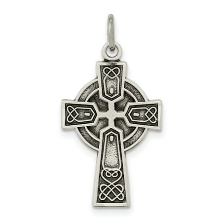 925 Sterling Silver Irish Claddagh Celtic Knot Cross Religious Pendant Charm Necklace Iona Fine Mothers Day Jewelry Morgan Satin Pendant