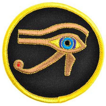 Sewing Decorative Patches Egyptian Eye of Horus Metallic Gold Stitching Sew On Patch