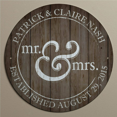 Personalized Mr  And Mrs  Metal Sign