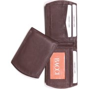 Brown Super Slim Bi-Fold Wallet Designer Jewelry by Sweet Pea