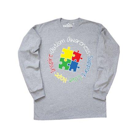 Autism Awareness Circle Long Sleeve T-Shirt