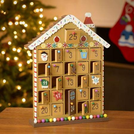 kaemingk house wooden advent calendar. Black Bedroom Furniture Sets. Home Design Ideas