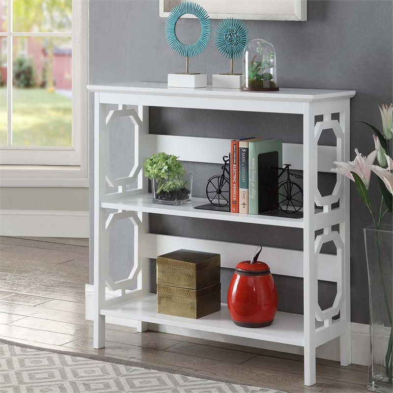 Convenience Concepts Omega 2 Shelf Bookcase In White