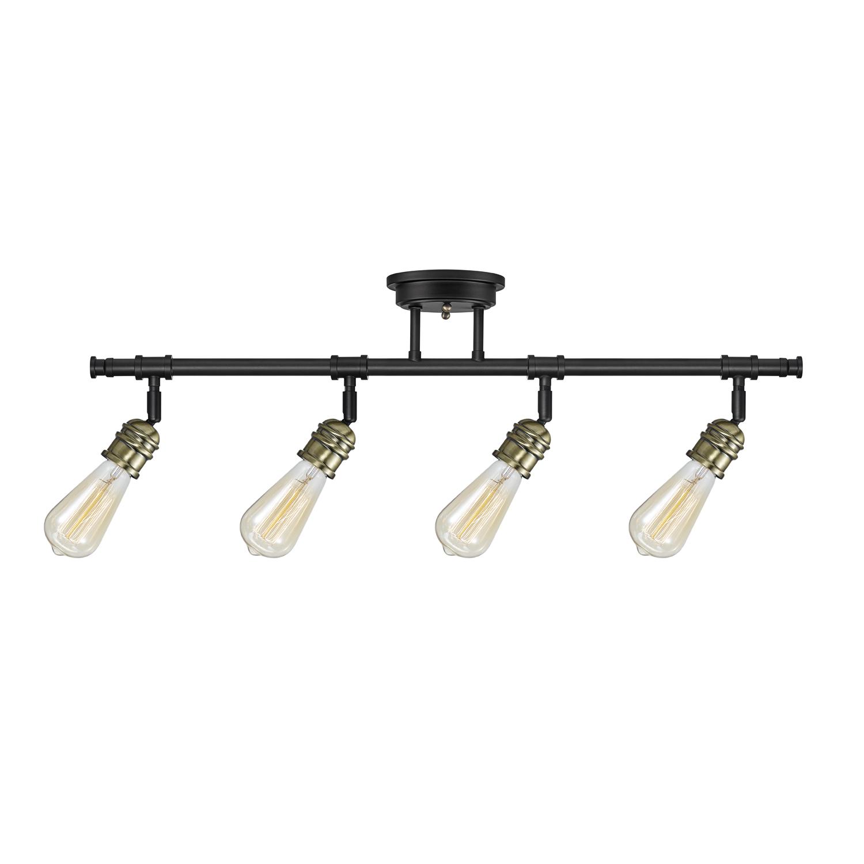 Globe Electric Rennes 4-Light Dark Bronze Track Lighting, Bulbs Included, 59191 by Globe Electric