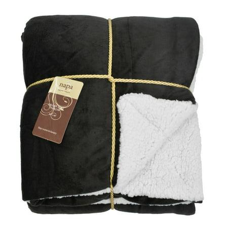Napa Super Soft Micro Mink Fleece Sherpa Bed Throw TV Blanket 50