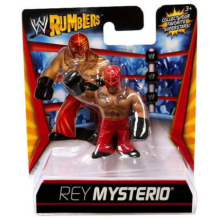 WWE Wrestling Rumblers Series 1 Rey Mysterio Mini Figure [Red - Wwe Outfits