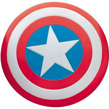 Captain America Plastic Shield (Captain American Adult Halloween Shield)