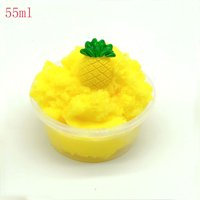 Pineapple Mud Fluffy Floam Slime Stress Relief Toy Ananas Scented Sludge Toys