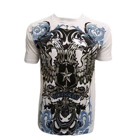 Konflic Men's Double Headed Revolution Bird MMA T Shirt, White Medium - image 2 of 2