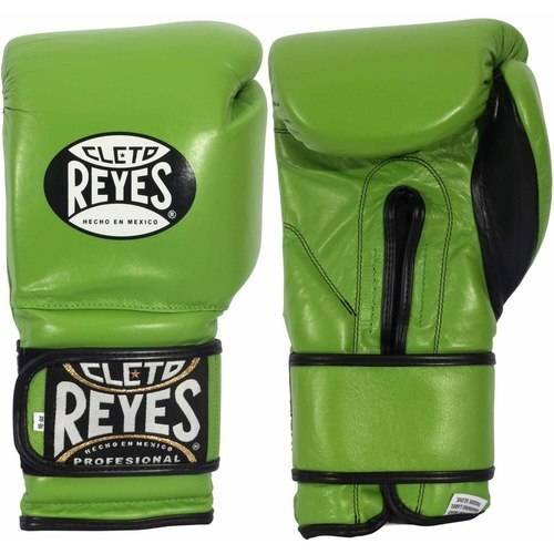 Cleto Reyes Hook and Loop Boxing Gloves, 14oz, Black