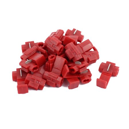 20Pcs Red Electrical Wire Connector Fast Quick Splice Cable Clip Terminals Crimp