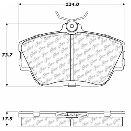 Go-Parts OE Replacement for 2001-2005 Mercury Sable Front Disc Brake Pad Set for Mercury Sable (Base / (Sable Base)