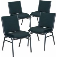 "Flash Furniture 4-Pack HERCULES Series Heavy Duty, 3"" Thickly Padded, Patterned Upholstered Stack Chair, Multiple Colors"