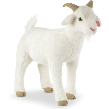 Goat Stuffed Animal (Melissa and Doug Lifelike Plush)