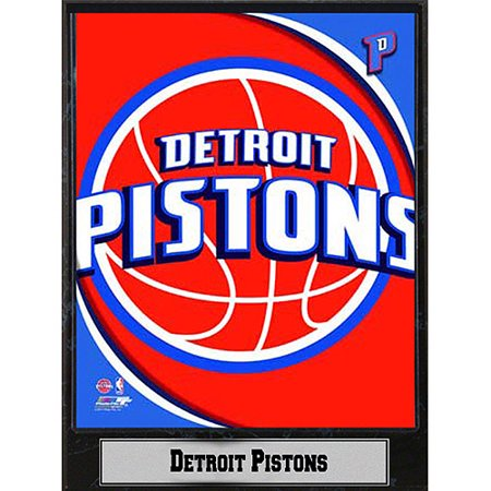 NBA Detroit Pistons Photo Plaque, 9x12 - Nba Detroit Pistons Leather