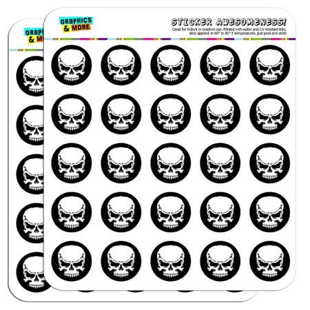 Tribal Skull on Black 1