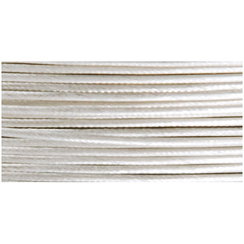 Beadalon Satin Series Stringing Wire, Silver Plated