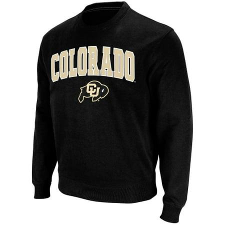 Stadium Crew Sweatshirt - Colorado Buffaloes Stadium Athletic Arch & Logo Crew Pullover Sweatshirt - Black