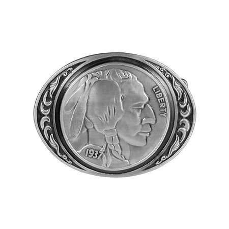 Indian Head Coin Belt Buckle