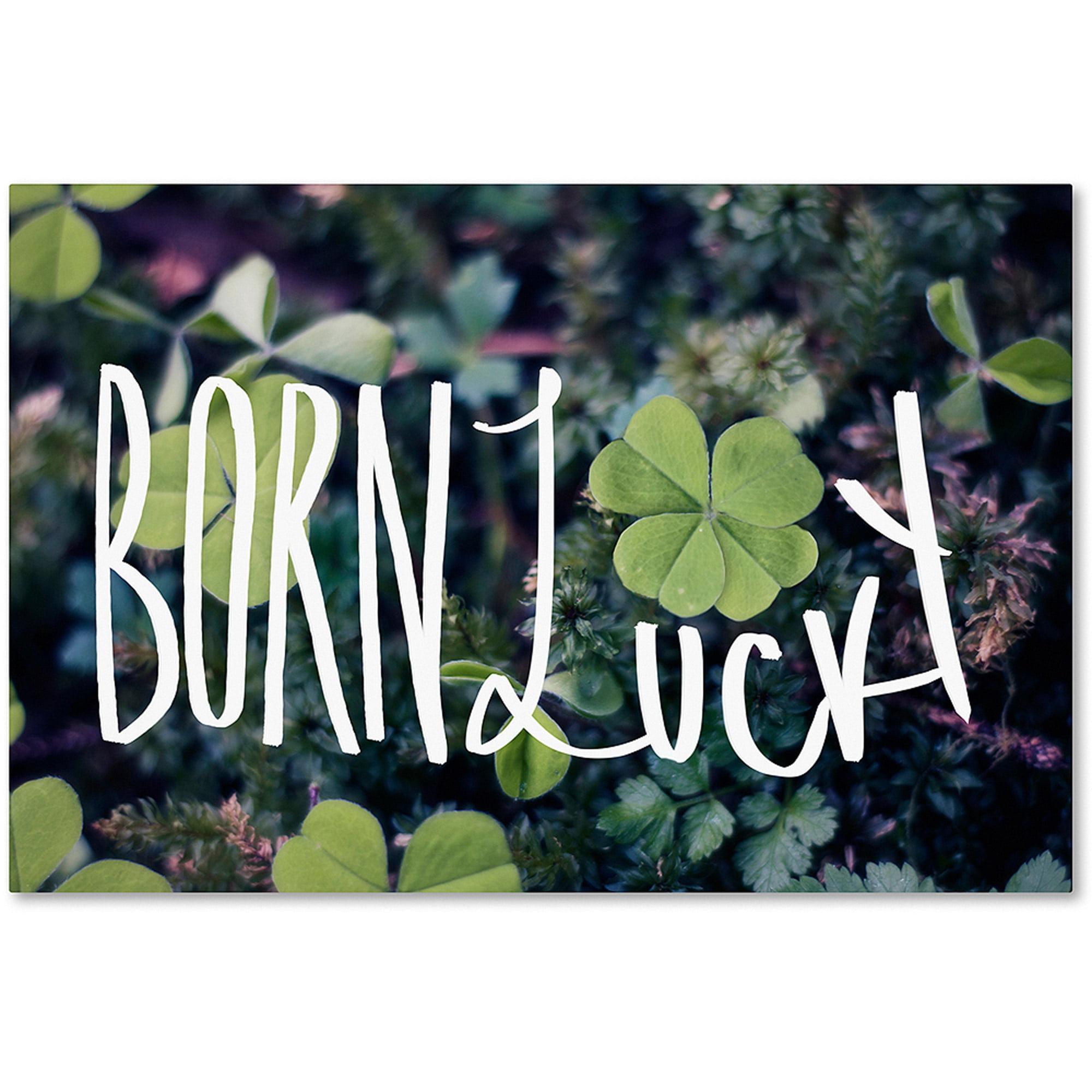 "Trademark Fine Art ""Born Lucky"" Canvas Art by Leah Flores"