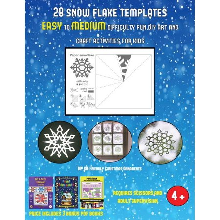 DIY Kid Friendly Christmas Ornaments (28 snowflake templates - easy to medium difficulty level fun DIY art and craft activities for kids) : Arts and Crafts for Kids ()