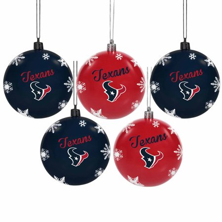 Houston Texans 5-Pack Set of Shatterproof Ball Ornaments - No Size Nfl Licensed Indianapolis Colts Ornament